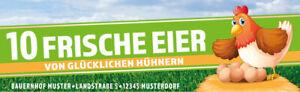 100 étiquettes autocollantes boîte à œufs 187 x 57 mm Happy Chickens Wishes text
