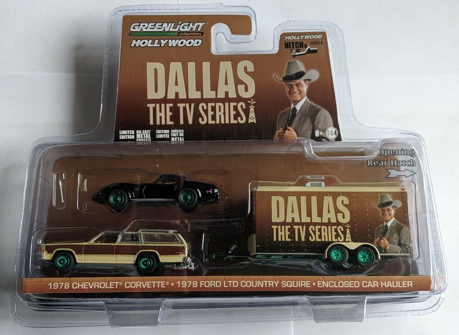 GREENLIGHT Hollywood 1958 Chevrolet corvette° 1979 Ford Ltd Country° En car haul