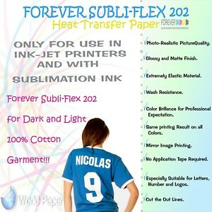 81dcfd024f01 Sublimation Paper for Cotton Forever Subli-Flex 202 Dark T Shirts ...
