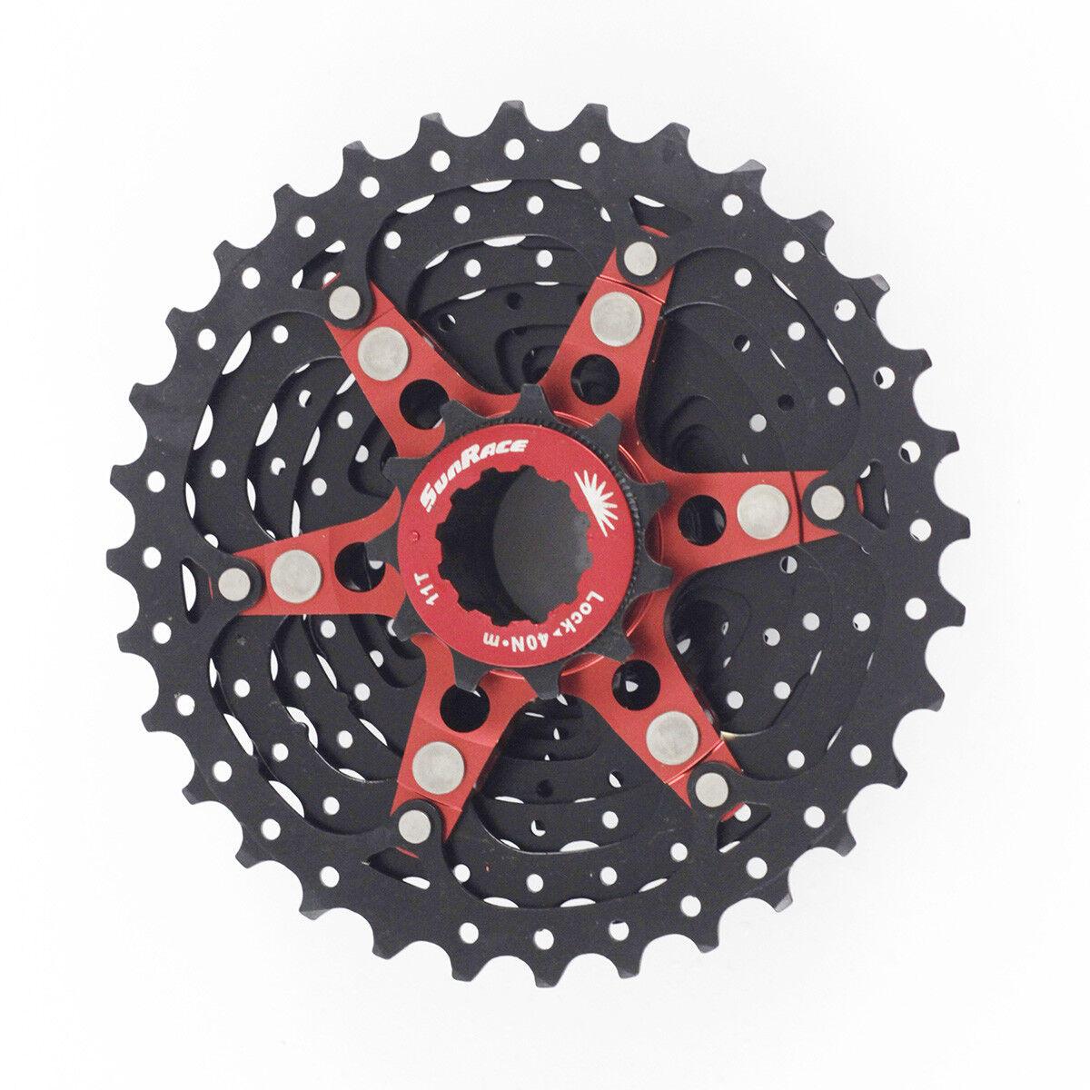 SUNRACE CSRXO Road Bike 10 Speed Cassette 1128T 32T 34T Freewheel For shimano