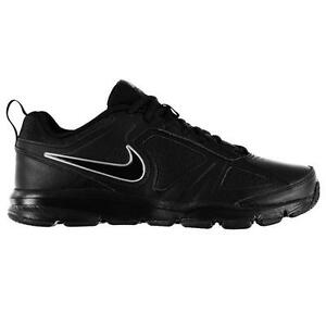 cheap for discount 0a0a2 37a87 Image is loading Nike-Mens-Trainers-Nike-T-Lite-Black-Leather-