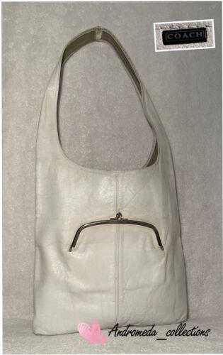 Vintage COACH Bonnie Cashin Hobo Bag, White, Made
