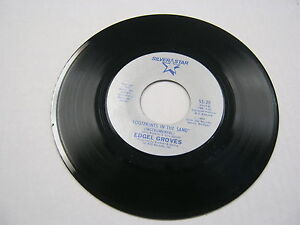 Edgel Groves Footprints In The Sand/Same 45 RPM Silver ...