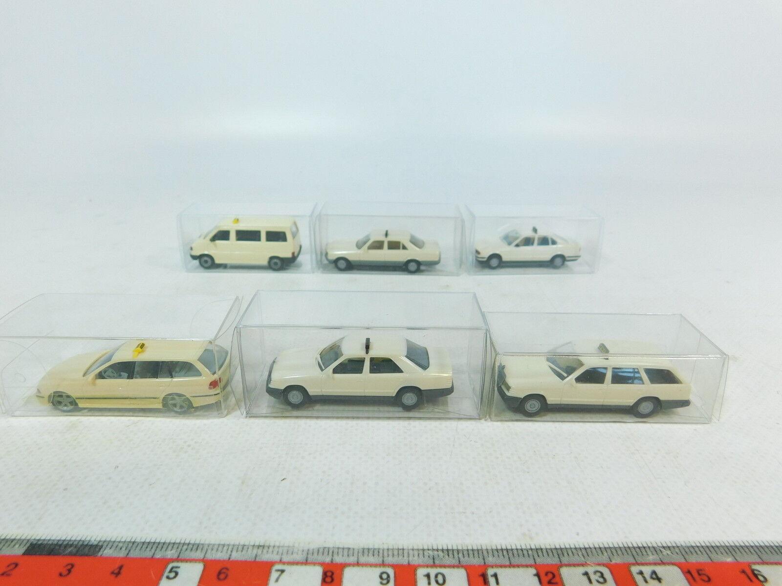 Ax774-0, 5  6x HERPA h0 (1 87) taxi-Modèle  vw CARAVELLE + MERCEDES-BENZ + BMW, Neuw