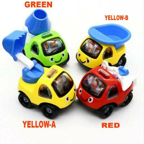 4pcs Toy Cars Gifts Pull Back and Go Vehicles Set for Baby Boys 1//2//3 Years Old/'