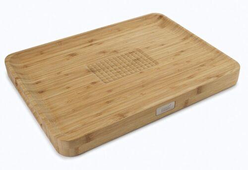 Large Wood Joseph Joseph Cut /& Carve Bamboo Chopping Board