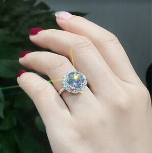Jewelry & Watches 925 Silver Filled White Sapphire Birthstone Wedding Princesses Band Rings Gift ring