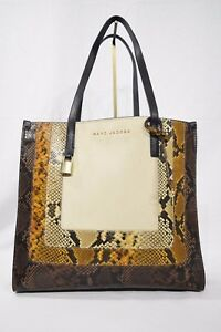 26ff376a2ee6 MARC By Marc Jacobs M0012901 The Snake Grind Shopper Tote Bag in ...