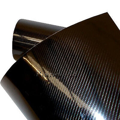 7D 5D Carbonfolie Autofolie Folie Carbon Auto schwarz glanz glänzend 45cm* 152cm