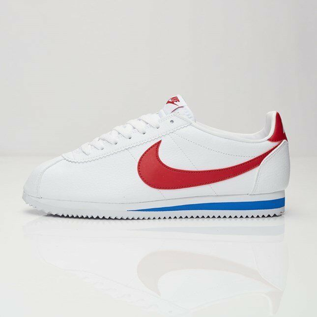 Nike Classic Cortez Leather Mens Sneakers White   Varsity Royal 749571-154 10'