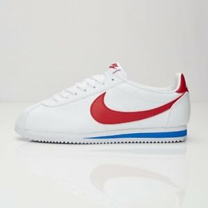 Nike Classic Cortez Leather Mens Sneakers White / Varsity Royal 749571-154 10'