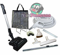 30' Or 35' Central Vacuum Kit W/hose, Power Head & Tools Beam Electrolux Hoover