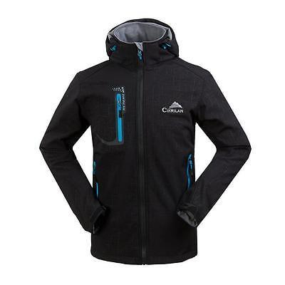 Hot Mens Soft Shell Waterproof Breathable Windproof Hood Outdoor Jacket Coats