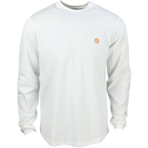 10 Deep Men Dotted Scoop Long Sleeve Tee white off white