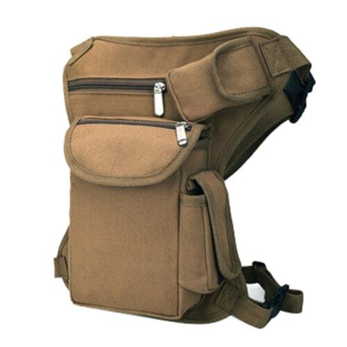 Taktisch Herren Segeltuch Drop Bein Tasche Oberschenkeltasche Waist Pack Outdoor