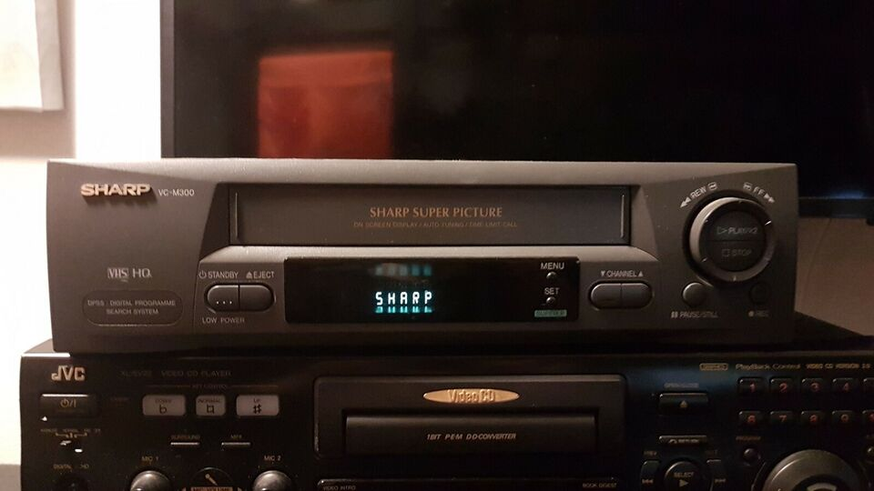 VHS videomaskine, Sharp, Vc-m3000
