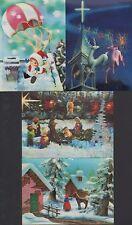 3D-Ansichtskarten Toppan Top Stereo 1990 Weihnachten Rentier Kirche christmas S1