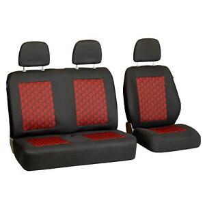 Schwarz-Rote 3D Effekt Sitzbezug Renault Maxity Vorne Fahrersitz