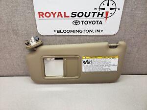 Toyota Rav4 2009 - 2013 Sand Beige Driver Side Vinyl Sun Visor ... 0125d6f0a83