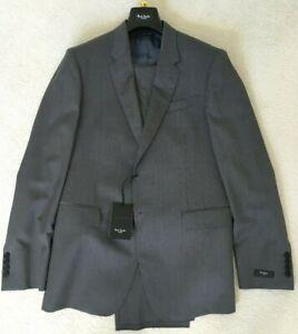 Paul-Smith-Byard-Graue-Streifen-Einreihig-Luxus-Anzug-40-50