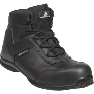 Airport Security Scanners Delta Plus Safety Work Boots Leather Composite Toe Cap