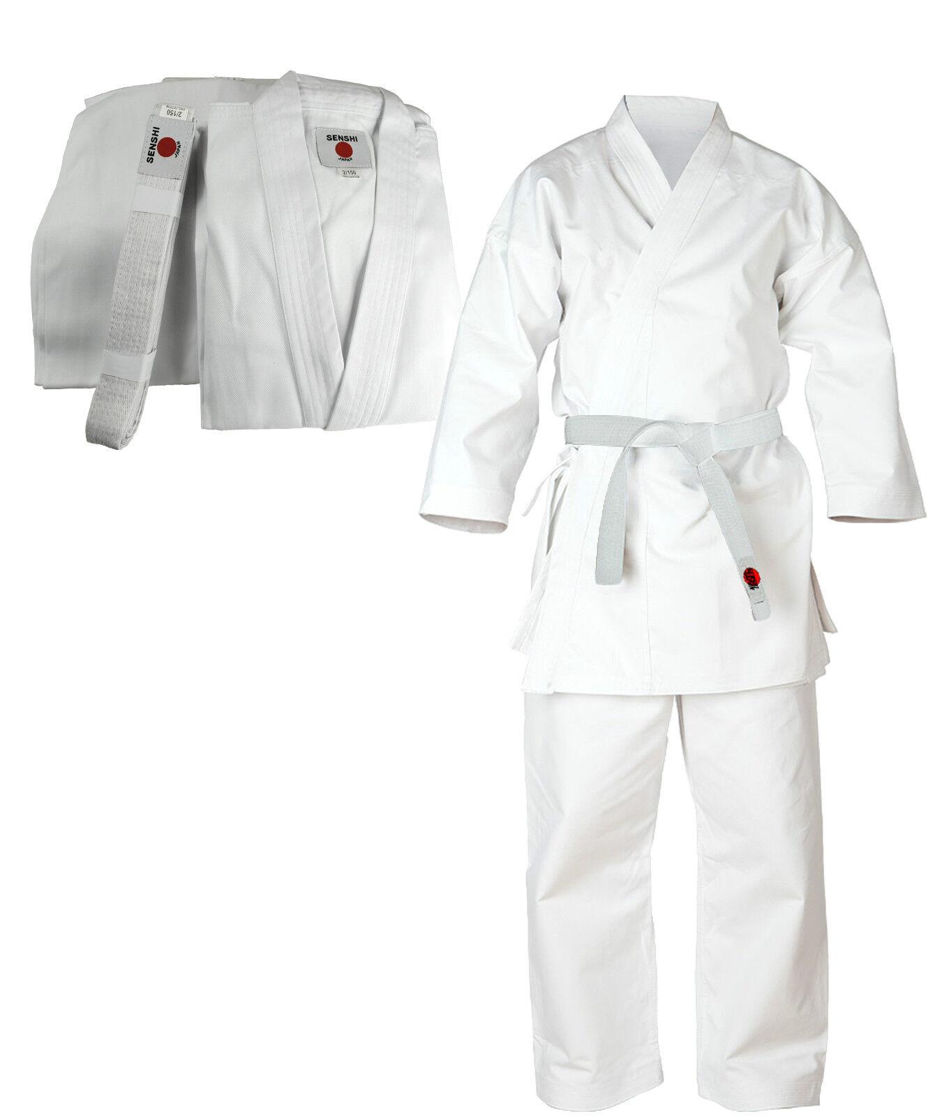 Senshi Japan Baumwolle Kostüm Karate-anzug Kampfsport Kostüm Baumwolle Aikido Student Weiß Gi d694a0
