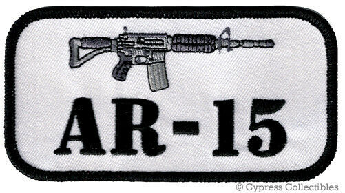 AR15 PATCH iron-on embroidered GUN EMBLEM M4 CARBINE ASSAULT RIFLE 2nd AMENDMENT
