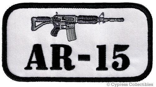 AR15 PATCH iron-on embroidered GUN EMBLEM M4 CARBINE ASSAULT RIFLE 2nd AMENDMENT