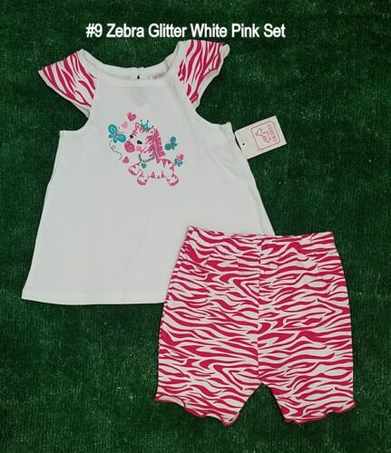 Swiggles Old Navy Baby Toddler Girls/' 2 Piece Outfit Top /& Shorts//Pants 12M-4T