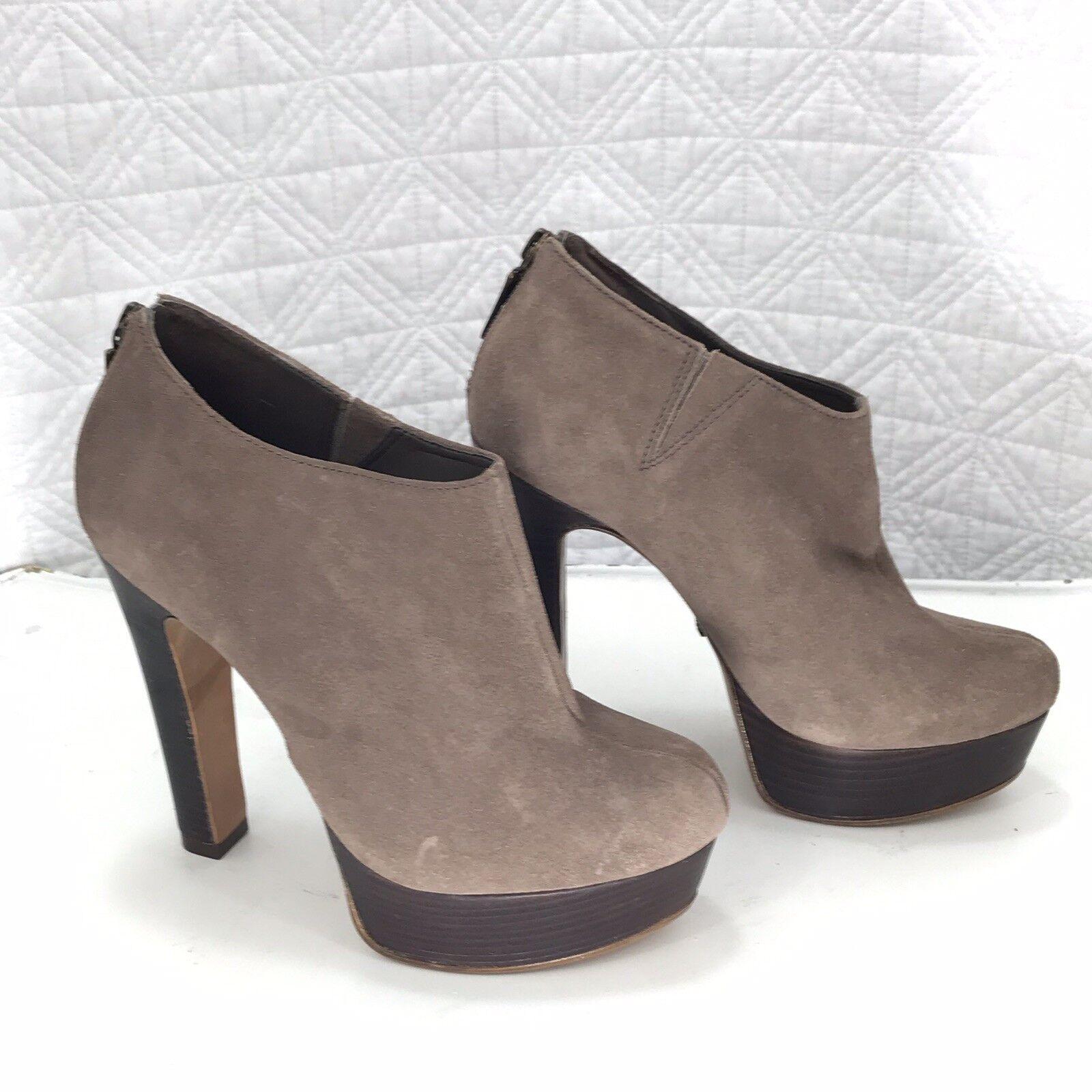 Schutz Schutz Schutz Kefera Platform Stiefelies Stiefel Sz 6M braun Nubuck Leather afd6bb