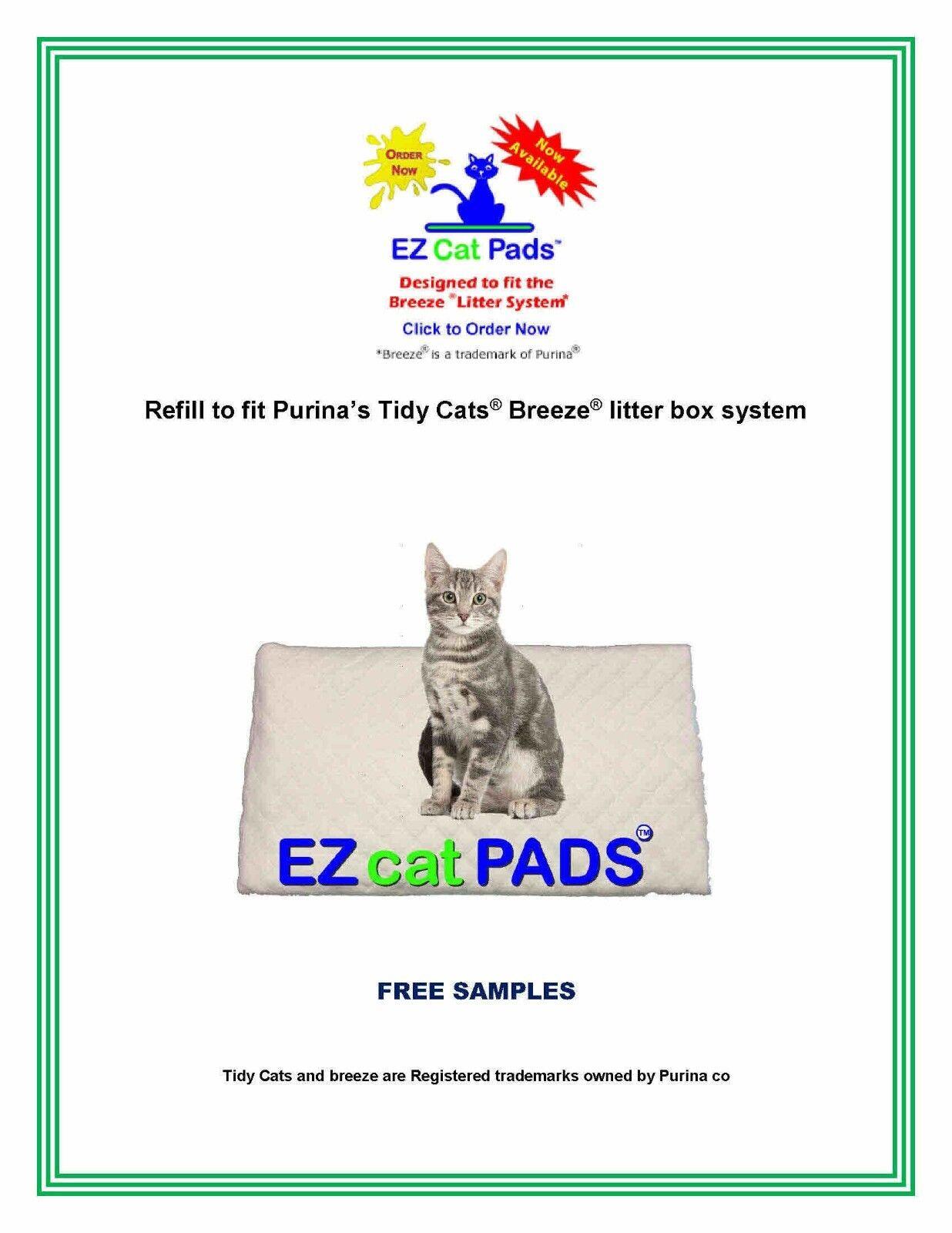 120 EZ Cat Refill Pads fits Litter Box System 16.9 x 11.4  Pads Top Quality