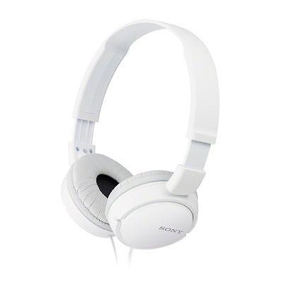 Sony Headphones MDR-ZX110 Overhead Foldable Stereo Sound White Headband