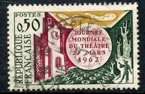 TIMBRE-FRANCE-OBLITERE-N-1334-JOURNEE-MONDIALE-DU-THEATRE