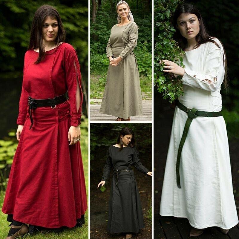 Elegant Long Sleeved Priestess Dress for Costume, Re-enactment & LARP