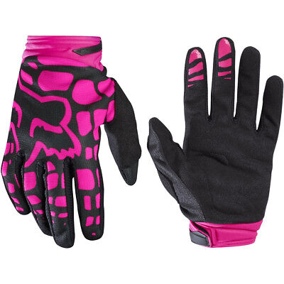 Black//Pink Medium Fox Dirtpaw Gloves Lady