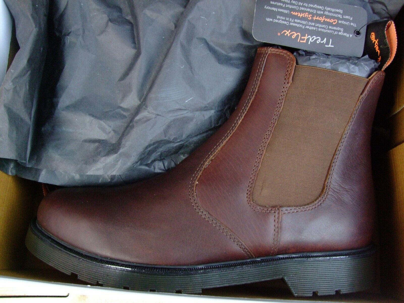 Tredflex size uk 11 ( T4165 ) twin gusset brown leather chelsea boot