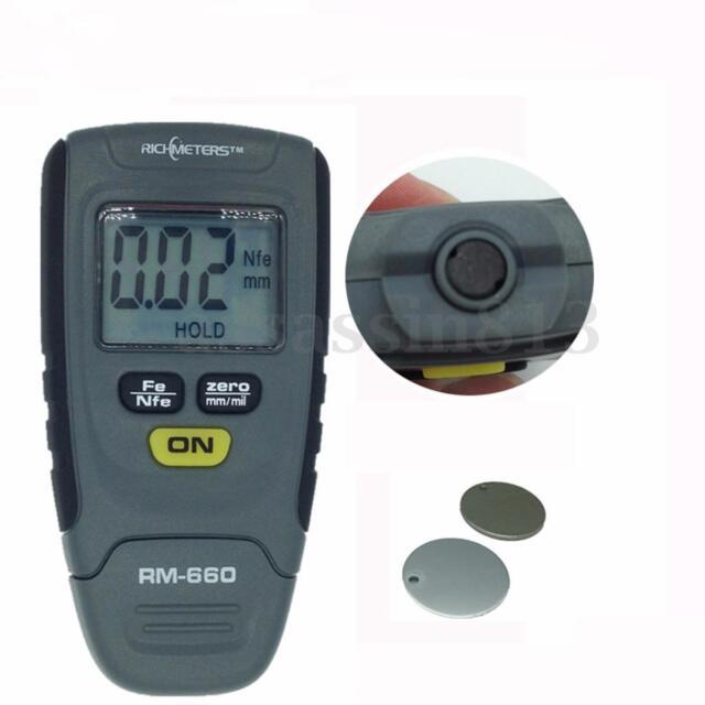 SR2120B 0-1.25mm Paint Coating Thickness Gauge Meter Tester Base Iron Aluminum