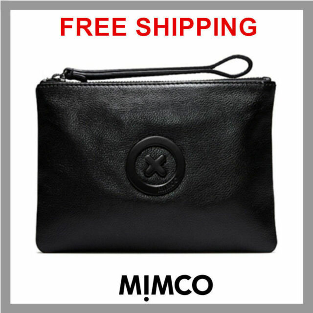 online store 2e234 d2dc1 Mimco Black Supernatural Medium Pouch Clutch Wallet Purse Bag Premium  Leather