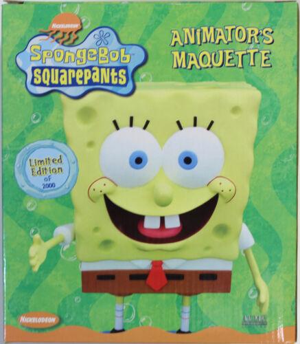 Nickelodeon ~ SPONGEBOB SQUAREPANTS ANIMATOR/'S MAQUETTE STATUE ~ Ltd 2000