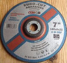Euro-Acero de Corte Disco de molienda 180X6X22 A24RBF 80M/S Max 8500RPM EN12413 38797