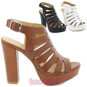 Scarpe donna stivaletti tacchi alti sandali gladiatore Queen Helena ZM25184