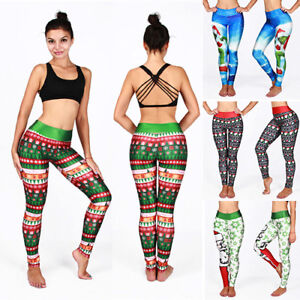 Women-High-Waist-Yoga-Leggings-Xmas-Running-Sports-Workout-Fitness-Stretch-Pants