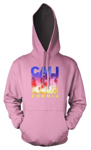 California Palm Trees Beach Bright Adult Hoodie