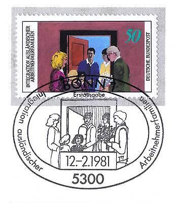 Ausdauernd Brd 1981: Integration Nr. 1086 Mit Dem Bonner Ersttags-sonderstempel! 1a! 154 Spezieller Sommer Sale