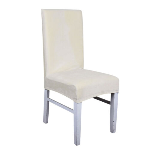 1//4//6//8 Pcs Pile Stretch Wedding Banquet Printing Velvet Chair Party Seat Cover