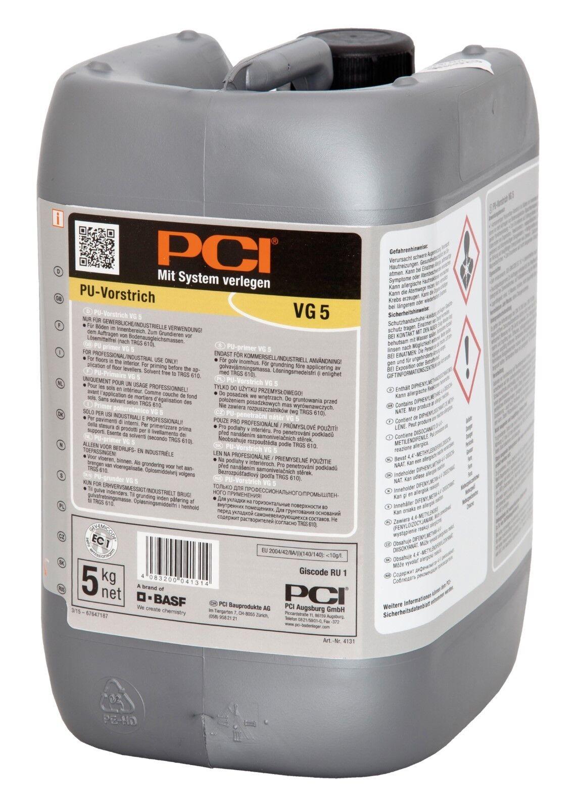 PCI VG 5 PU-Vorstrich 5 kg Polyurethan-Vorstrich für Böden im Innenbereich