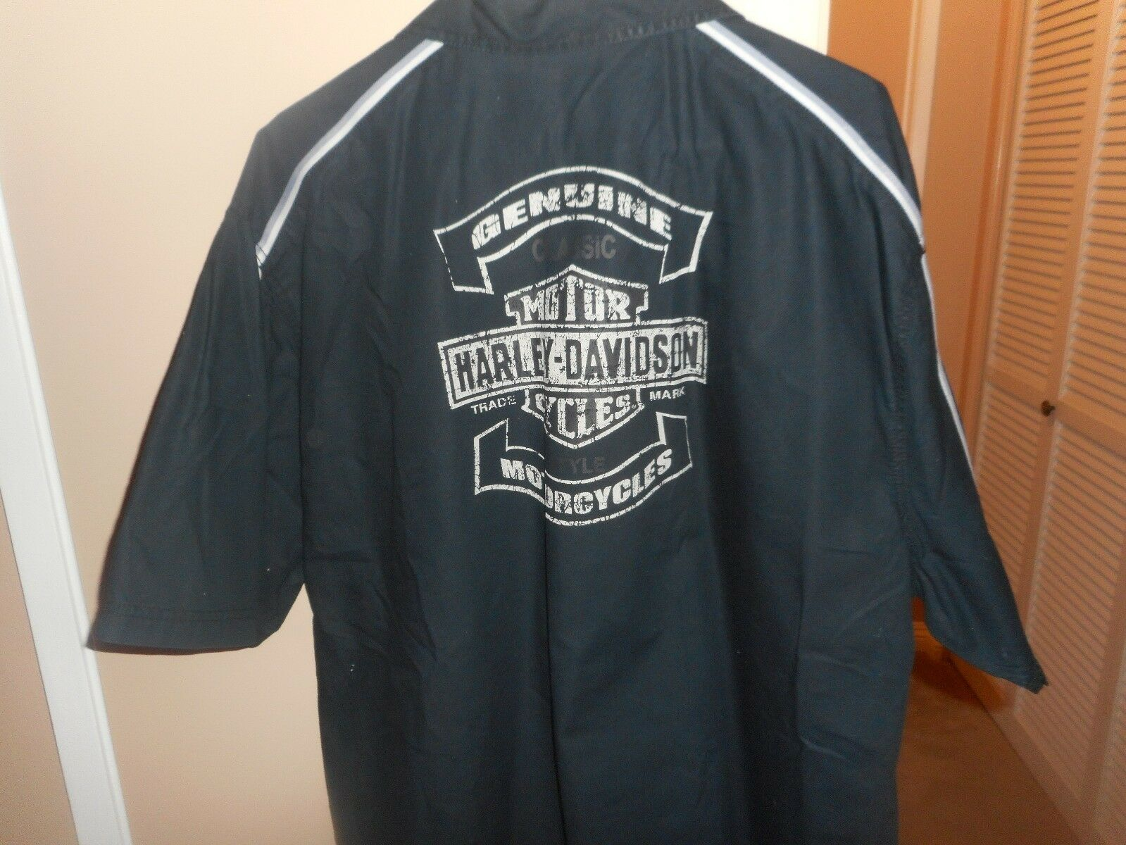 Men's Harley Davidson Classic Bar & Shield S S Button Woven Shirt  XXL Mint