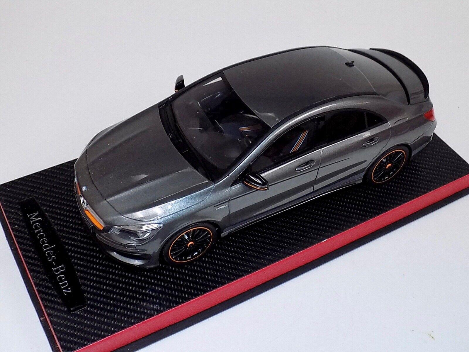 1 18 GT Spirit 2014 Mercedes Benz CLA Class 45 AMG Orange art Leather Base GT722