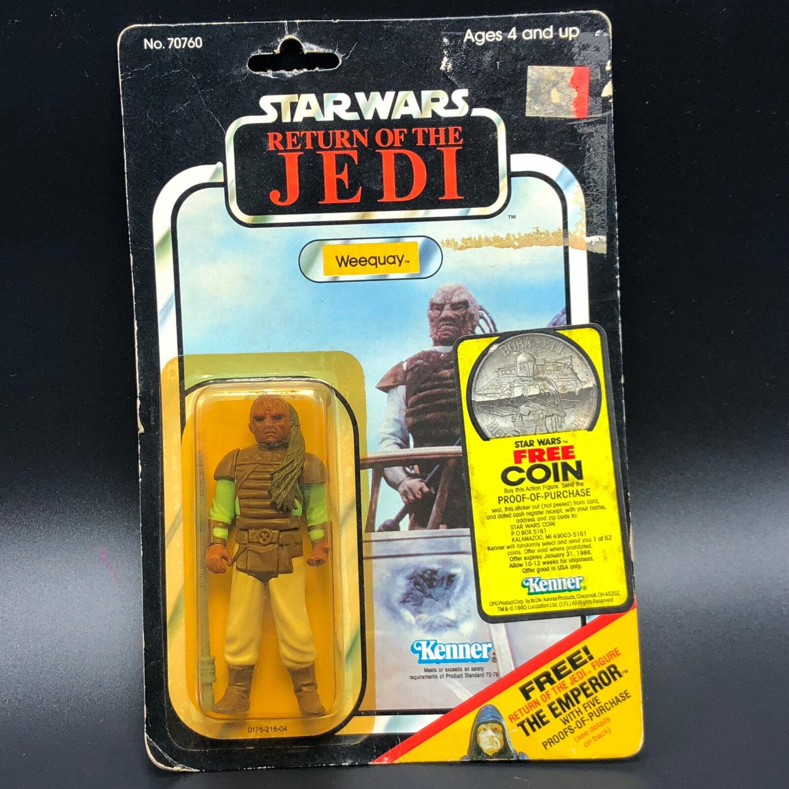 1983 KENNER STAR WARS ACTION FIGURE WEEQUAY moc Jabba hutt guard return of jedi