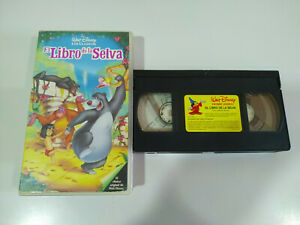 EL-LIBRO-DE-LA-SELVA-JUNGLE-BOOK-Walt-Disney-VHS-Cinta-Castellano